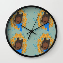 CollieFox Wall Clock