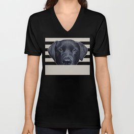Labrador with white background Dog illustration original painting print Unisex V-Neck