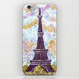 Eiffel Tower Pointillism by Kristie Hubler iPhone Skin