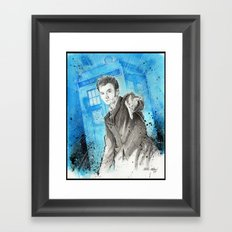 Doctor Who: The 10th Doctor Framed Art Print