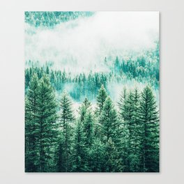 Forest + Fog #photography #nature Canvas Print