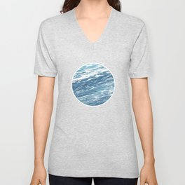 Ocean Water Waves Foam Texture Unisex V-Neck