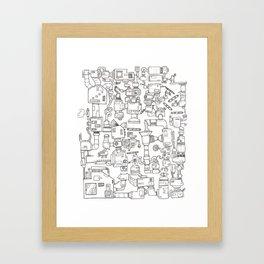 The coffee maker Framed Art Print