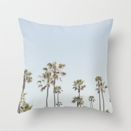 California Palm Trees II Throw Pillow