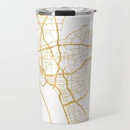 SAN DIEGO CALIFORNIA CITY STREET MAP ART Travel Mug