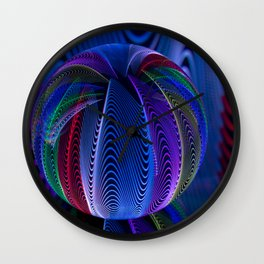 Many colours in the glass Wall Clock