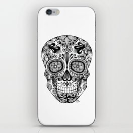 Zentangle - Sugar Skull  iPhone Skin