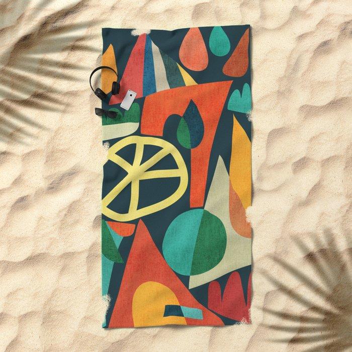 Summer Fun House Beach Towel