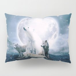 Wolves and the polar bear by GEN Z Pillow Sham