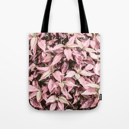 #Pink Foliage #nature #abstract Tote Bag