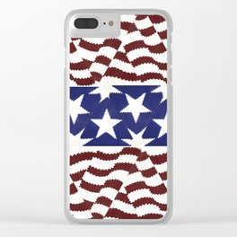 Staripes Clear iPhone Case