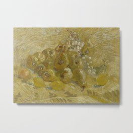 Quinces, Lemons, Pears and Grapes Metal Print