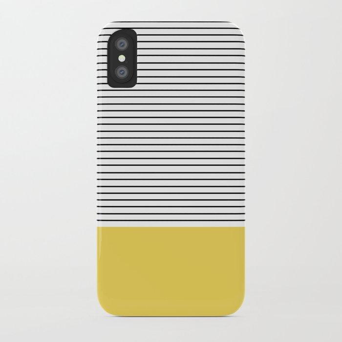 MINIMAL Green Stripes iPhone Case