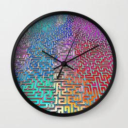 Rainbow Complex Maze Wall Clock