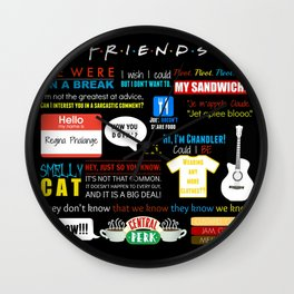 Friends Quote Collage Wall Clock