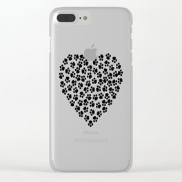 Love for Dogs Clear iPhone Case