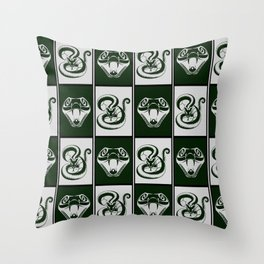 Slytherin Checkerboard Throw Pillow