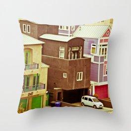 Colorful Condos Throw Pillow