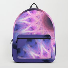 Electric Blue and Pink Mandala Backpack