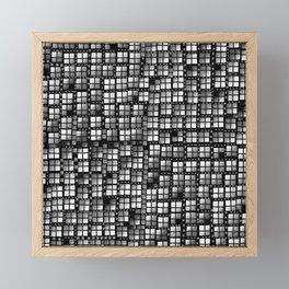 Dark pixels fashion Framed Mini Art Print