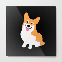 Cute Little Corgi Metal Print