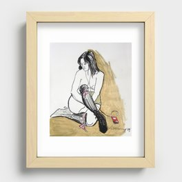 HOMMAGE A SCHIELE Recessed Framed Print