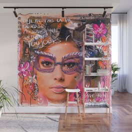 Think pink, have fun... Wall Mural