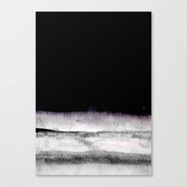 black and gray abstract landscape painting Canvas Print