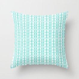 Aqua Dot Throw Pillow