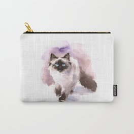 Watercolor Siamese Cat Carry-All Pouch