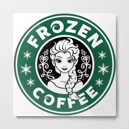 Frozen Coffee Metal Print