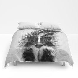 Skunk - Black & White Comforters