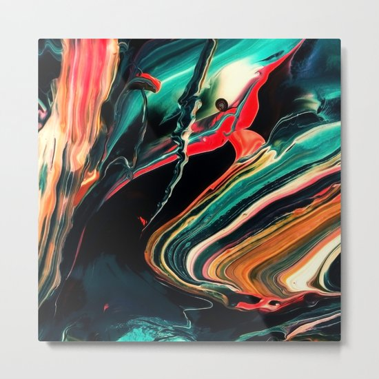 ABSTRACT COLORFUL PAINTING II-A Metal Print