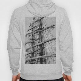 Sailing Ship black and white photo 2 Hoody