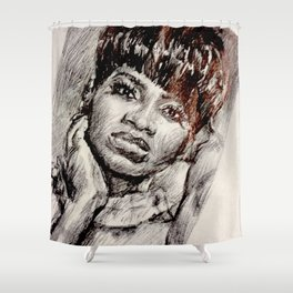 Black Woman in the Mirror Shower Curtain