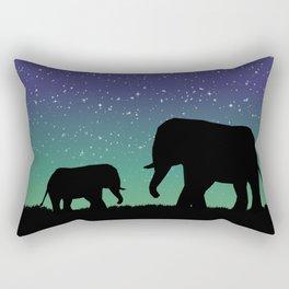 Elephant Silhouettes  Rectangular Pillow