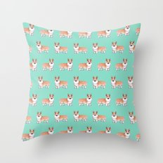 Corgi dog Throw Pillow