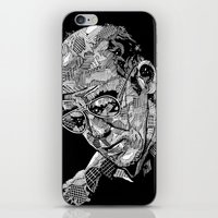 hunter s thompson iPhone & iPod Skins featuring Hunter S Thompson by Andy Christofi