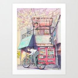 Bicycle Boy 02 Art Print