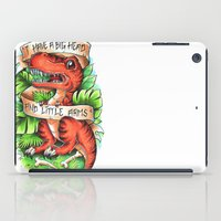 t rex iPad Cases featuring T-Rex by Little Lost Forest