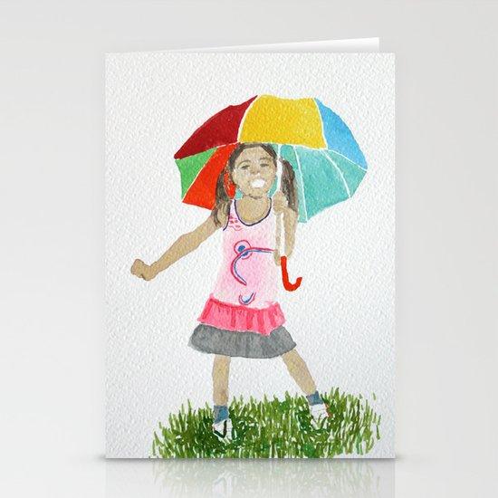 My umbrella Stationery Cards