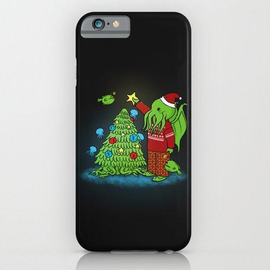 Cthulhu's Happy Holidays iPhone & iPod Case