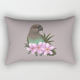 Red-bellied Parrot [female] Rectangular Pillow