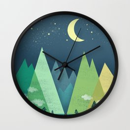 The Long Road at Night Wall Clock