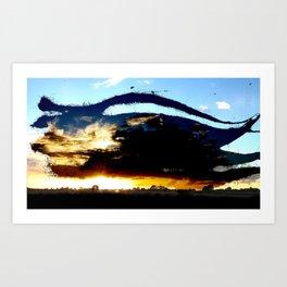 Dread Sunset Art Print