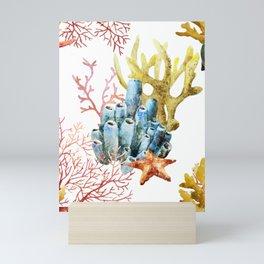 Sea Life Pattern 11 Mini Art Print