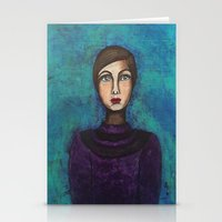 introvert Stationery Cards featuring Introvert by Leanne Schuetz Mixed Media Artist