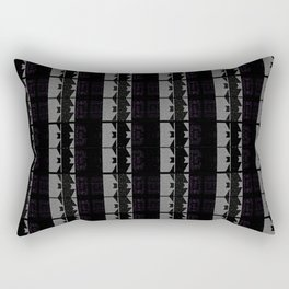 Body Suits - Black-n-White Zig-Zag stripes Rectangular Pillow