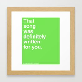 That Song Framed Art Print