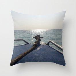 Thailand Boatride Throw Pillow